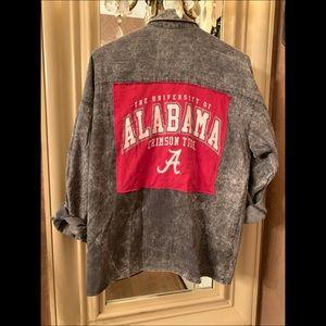 Alabama custom made, one of a kind acid wash shirt